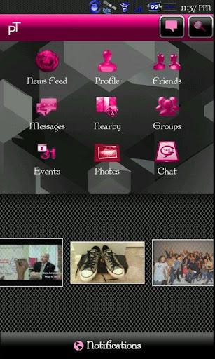Pink Transparent social