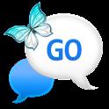 GO SMS - Blue Plaid Sky icon