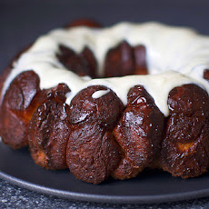 Monkey Bread with Cream Cheese Glaze