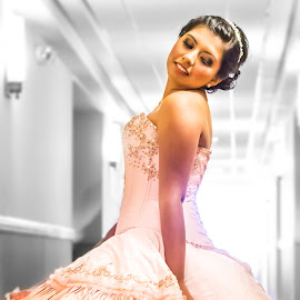 Quinceanera by Tim Justtim - People Fashion ( dress, quinceanera, teenagers, feminine, pink, selective color, pwc,  )