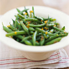Green Beans with Caramelized Onion Vinaigrette