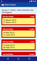 Screenshot of Malaysia Public Holiday
