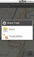 Screenshot of Tracks2Miles