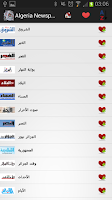 Screenshot of Algeria Newspapers and News