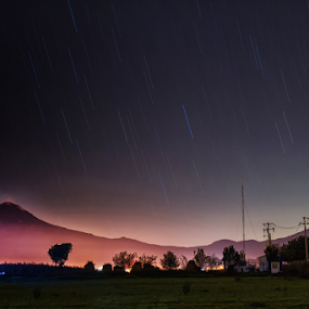 Volcanoes and stars by Cristobal Garciaferro Rubio - Landscapes Starscapes ( popo, stars, mexico, popocatepetl, nightscape )