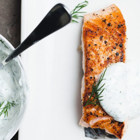 Salmon with Yogurt & Dill