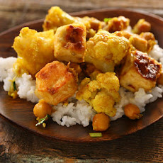 Curried Cauliflower, Chickpeas, and Tofu