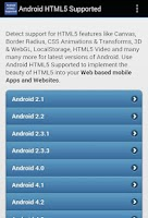 Screenshot of HTML5 Supported for Android