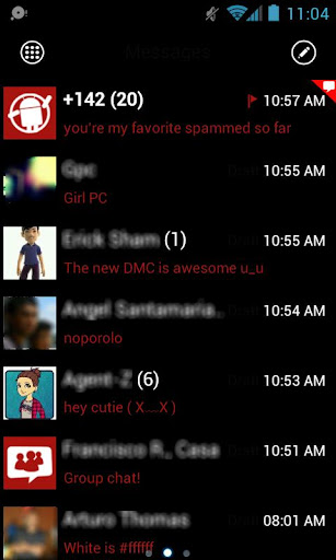 GOSMS WP7 Red Theme Free