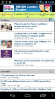 Screenshot of Indian Newspapers