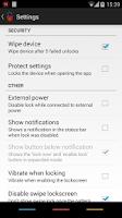 Screenshot of Delayed Lock Unlock Key