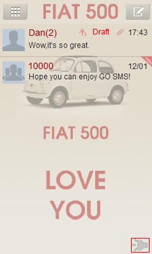 GO sms FIAT 500 theme