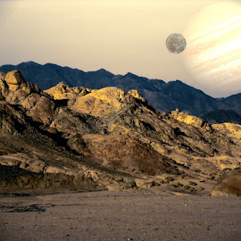 Nothing Living by Dave Smith - Digital Art Places ( planets, desert, surreal, space )