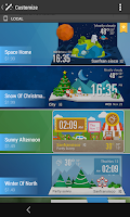 Screenshot of Mini Line Round Clock Weather