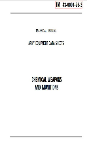 CHEMICAL WEAPONS AND MUNITIONS