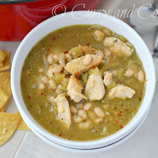 Green Chili Chicken and Bean Soup