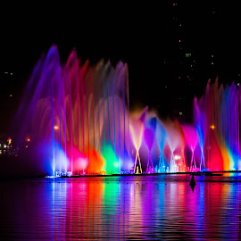 Sharjah, UAE Corniche by Elmer Magdosa - City,  Street & Park  Fountains ( dancing fountain, waterjet, fountain )