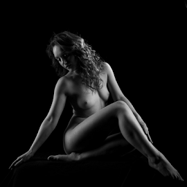 Artistic Holly by Paul Phull - Nudes & Boudoir Artistic Nude ( sexy, lighting, black and white, artistic nude, legs,  )