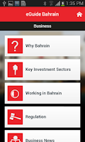 Screenshot of eGuide Bahrain
