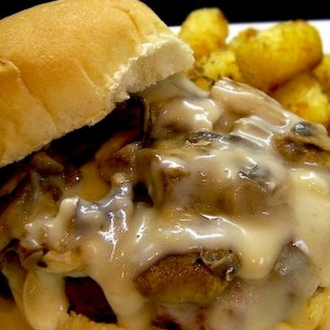 Copycat Hardees Mushroom and Swiss