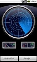 Screenshot of Radar Clock LiveWallpaper Demo