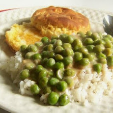 White Gravy/ Sauce With Peas