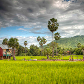 Countryside  by Bunnawath B-FOTO - Landscapes Travel ( countryside, mountain, ppl, green, house, khmer, cambodia )