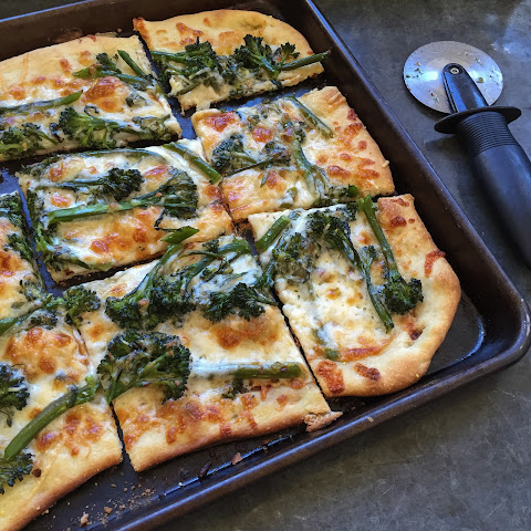 Broccoli Rabe and Egg Pizza