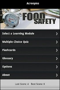 Food Safety Certification Prep - screenshot