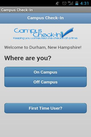 UNH Campus Check-In
