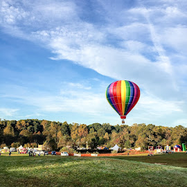 Rainbow Balloon by Lou Plummer - News & Events US Events ( color, autumn, balloon fest, balloon, north carolina )
