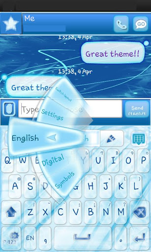 Go Keyboard Blue Chill