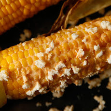 Grilled Corn with Cayenne, Lime, and Cotija Recipe