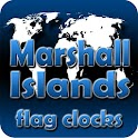 Marshall Islands flag clocks icon