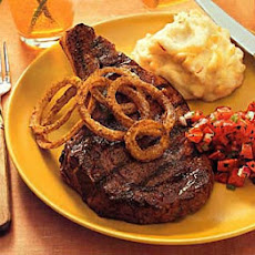 Chili-Rubbed Rib-Eye Steaks