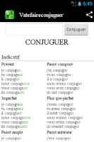 Screenshot of Conjugation Vatefaireconjuguer