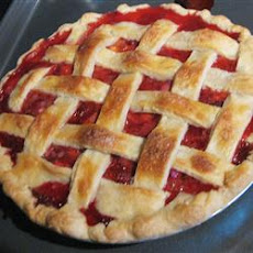 My Own Strawberry Rhubarb Pie