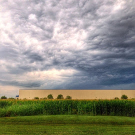 Some wild cloud action intoday. by Caleb Daugherty - Instagram & Mobile iPhone ( Evansville, clouds, storm, indiana )