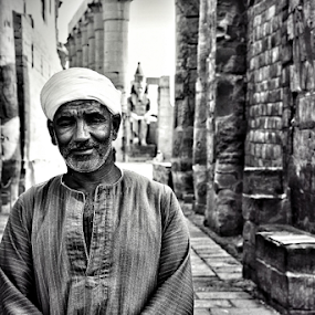 Guard at Pharaonic Temple by Hasnain Rizvi - People Portraits of Men (  )