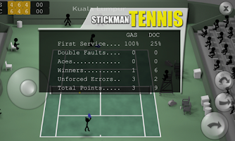Screenshot of Stickman Tennis