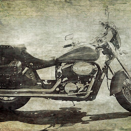 Harley by Paul Brumit - Transportation Motorcycles ( harley, vintage, mortorcycles, retro, transportation, bicycle )