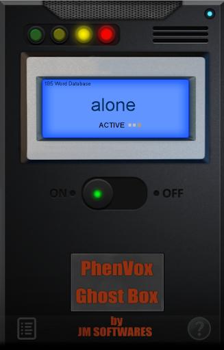 PhenVox Ghost Box - screenshot