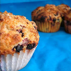Lemon Crunch Blueberry Muffins