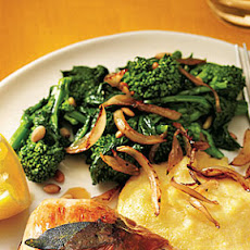 Broccoli Rabe with Onions and Pine Nuts