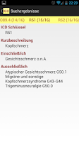 Screenshot of Krankenschein ICD-10 Codierung