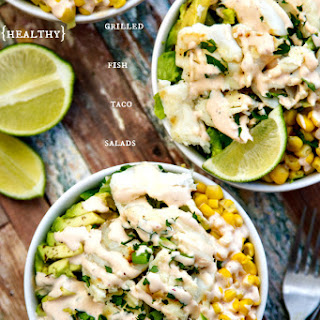 Fish Taco Salad With A Creamy Chipotle Dressing {healthy}