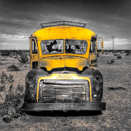 End of the Line by Rob Baker - Transportation Automobiles ( yellow bus )