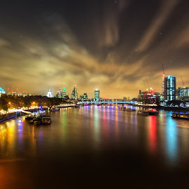 East View by Michael Payne - City,  Street & Park  Night ( , HDR, Landscapes )