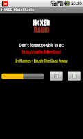 Screenshot of H4XED METAL MUSIC RADIO
