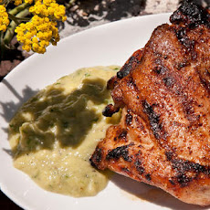 Chipotle Grilled Chicken Thighs with Spicy Tomatillo Sauce Recipe